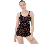 SKIN1 BLACK MARBLE & RUSTED METAL Boyleg Tankini Set