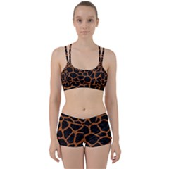 Skin1 Black Marble & Rusted Metal Women s Sports Set