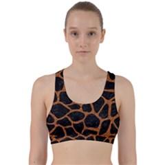 Skin1 Black Marble & Rusted Metal Back Weave Sports Bra