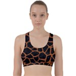 SKIN1 BLACK MARBLE & RUSTED METAL Back Weave Sports Bra