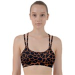 SKIN1 BLACK MARBLE & RUSTED METAL Line Them Up Sports Bra