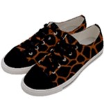 SKIN1 BLACK MARBLE & RUSTED METAL Men s Low Top Canvas Sneakers