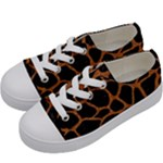 SKIN1 BLACK MARBLE & RUSTED METAL Kids  Low Top Canvas Sneakers