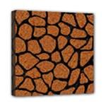 SKIN1 BLACK MARBLE & RUSTED METAL (R) Mini Canvas 8  x 8