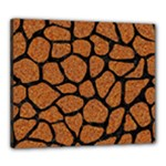 SKIN1 BLACK MARBLE & RUSTED METAL (R) Canvas 24  x 20