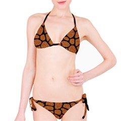 Skin1 Black Marble & Rusted Metal (r) Bikini Set