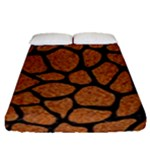 SKIN1 BLACK MARBLE & RUSTED METAL (R) Fitted Sheet (Queen Size)