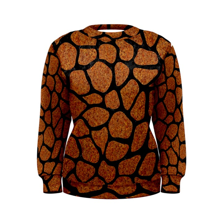 SKIN1 BLACK MARBLE & RUSTED METAL (R) Women s Sweatshirt
