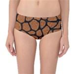 SKIN1 BLACK MARBLE & RUSTED METAL (R) Mid-Waist Bikini Bottoms