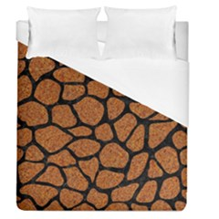 Skin1 Black Marble & Rusted Metal (r) Duvet Cover (queen Size) by trendistuff