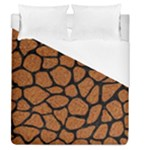 SKIN1 BLACK MARBLE & RUSTED METAL (R) Duvet Cover (Queen Size)