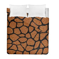 Skin1 Black Marble & Rusted Metal (r) Duvet Cover Double Side (full/ Double Size) by trendistuff