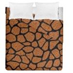 SKIN1 BLACK MARBLE & RUSTED METAL (R) Duvet Cover Double Side (Queen Size)