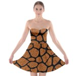 SKIN1 BLACK MARBLE & RUSTED METAL (R) Strapless Bra Top Dress