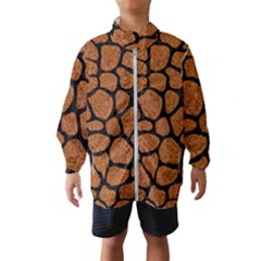 Skin1 Black Marble & Rusted Metal (r) Wind Breaker (kids)
