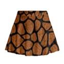 SKIN1 BLACK MARBLE & RUSTED METAL (R) Mini Flare Skirt View1