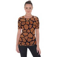 Skin1 Black Marble & Rusted Metal (r) Short Sleeve Top