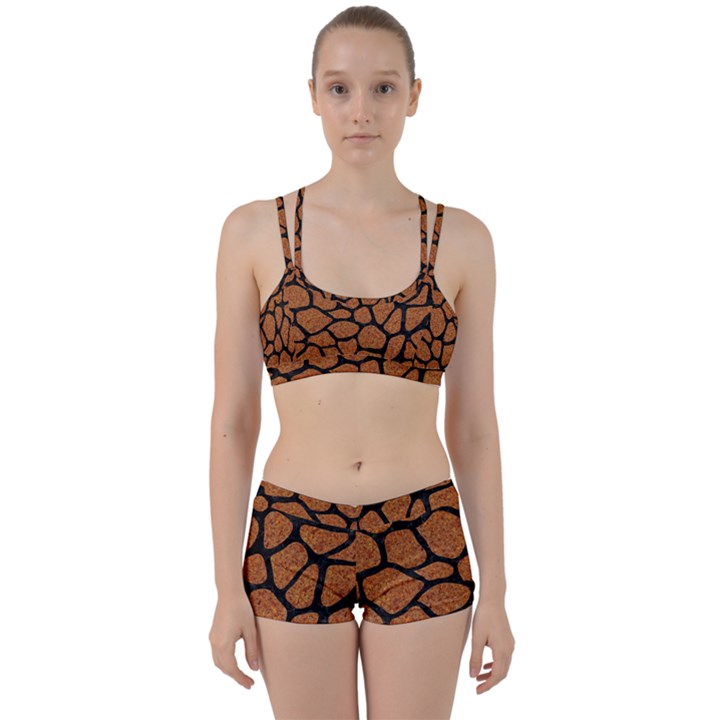 SKIN1 BLACK MARBLE & RUSTED METAL (R) Women s Sports Set