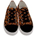 SKIN1 BLACK MARBLE & RUSTED METAL (R) Men s Low Top Canvas Sneakers View1