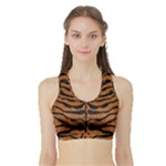 SKIN2 BLACK MARBLE & RUSTED METAL Sports Bra with Border