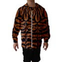 SKIN2 BLACK MARBLE & RUSTED METAL Hooded Wind Breaker (Kids) View1