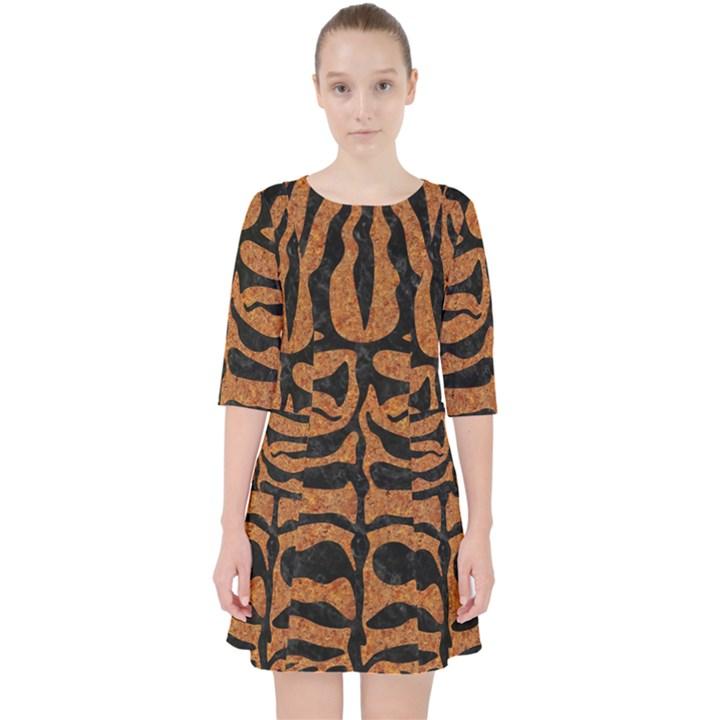 SKIN2 BLACK MARBLE & RUSTED METAL Pocket Dress