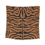 SKIN2 BLACK MARBLE & RUSTED METAL Square Tapestry (Small)