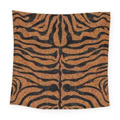 SKIN2 BLACK MARBLE & RUSTED METAL Square Tapestry (Large)
