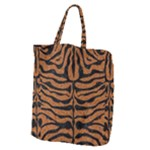 SKIN2 BLACK MARBLE & RUSTED METAL Giant Grocery Zipper Tote