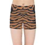 SKIN2 BLACK MARBLE & RUSTED METAL Kids Sports Shorts