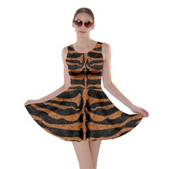 Skin2 Black Marble & Rusted Metal (r) Skater Dress