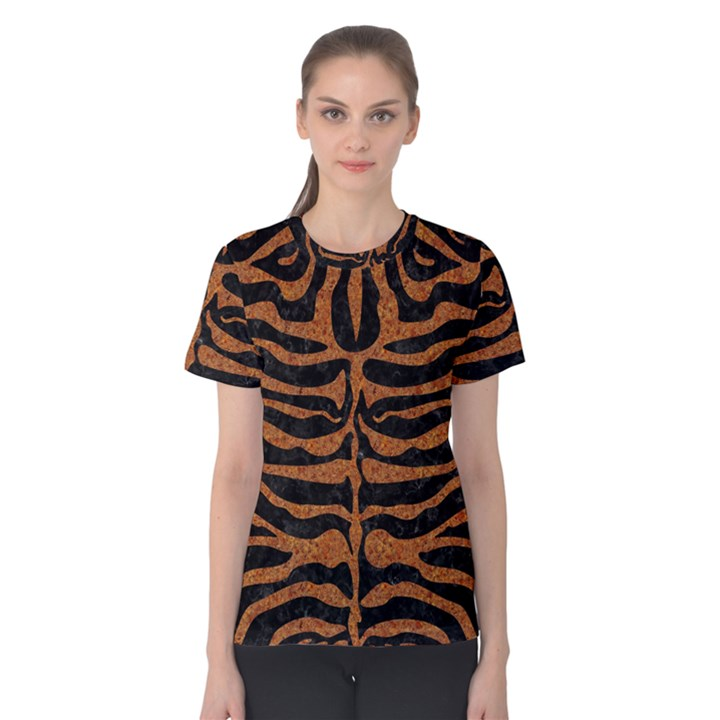 SKIN2 BLACK MARBLE & RUSTED METAL (R) Women s Cotton Tee