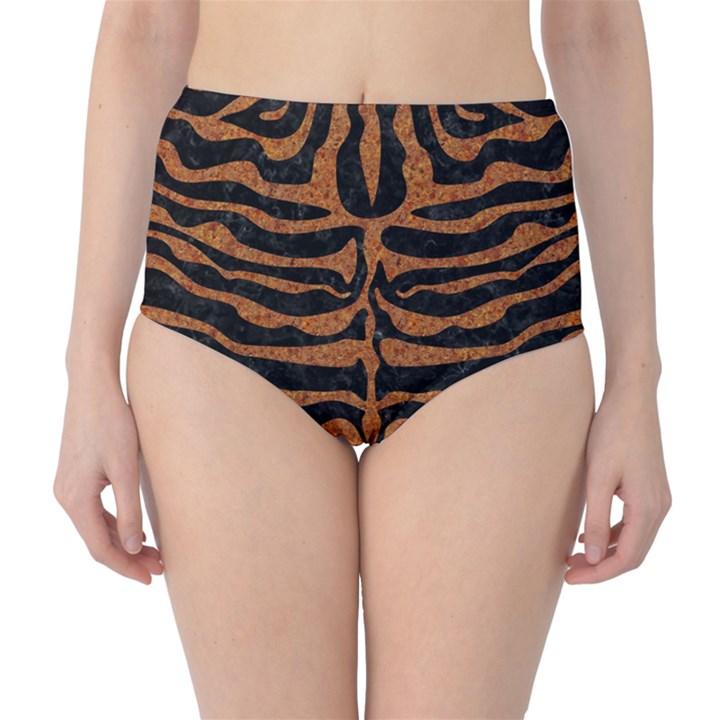 SKIN2 BLACK MARBLE & RUSTED METAL (R) High-Waist Bikini Bottoms
