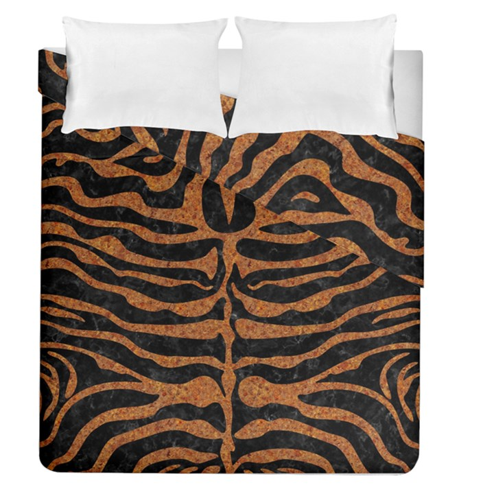 SKIN2 BLACK MARBLE & RUSTED METAL (R) Duvet Cover Double Side (Queen Size)