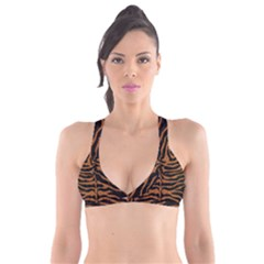 Skin2 Black Marble & Rusted Metal (r) Plunge Bikini Top