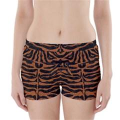 SKIN2 BLACK MARBLE & RUSTED METAL (R) Boyleg Bikini Wrap Bottoms