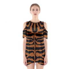 SKIN2 BLACK MARBLE & RUSTED METAL (R) Shoulder Cutout One Piece