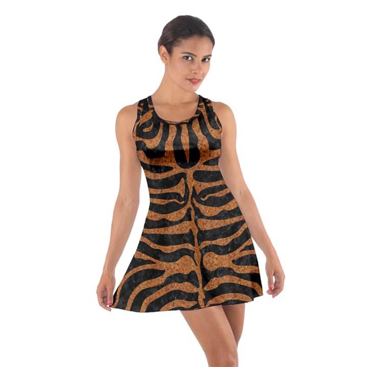 SKIN2 BLACK MARBLE & RUSTED METAL (R) Cotton Racerback Dress