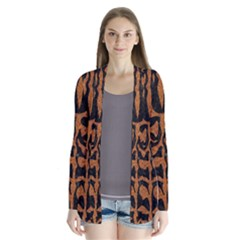 Skin2 Black Marble & Rusted Metal (r) Drape Collar Cardigan