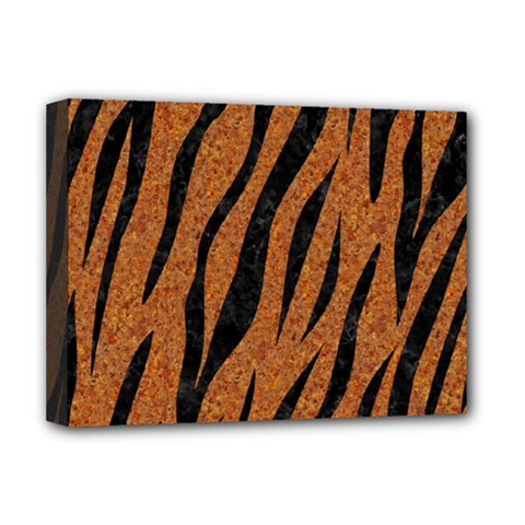 Skin3 Black Marble & Rusted Metal Deluxe Canvas 16  X 12