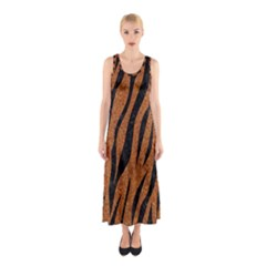 SKIN3 BLACK MARBLE & RUSTED METAL Sleeveless Maxi Dress