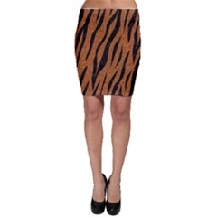 SKIN3 BLACK MARBLE & RUSTED METAL Bodycon Skirt