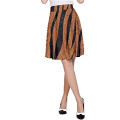SKIN3 BLACK MARBLE & RUSTED METAL A-Line Skirt