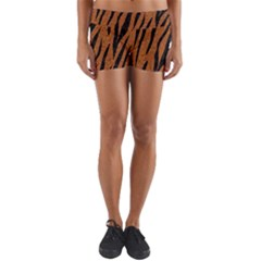 SKIN3 BLACK MARBLE & RUSTED METAL Yoga Shorts