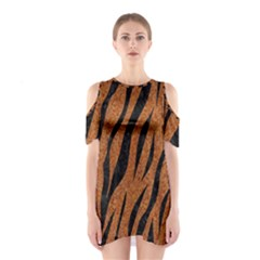 SKIN3 BLACK MARBLE & RUSTED METAL Shoulder Cutout One Piece