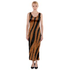 SKIN3 BLACK MARBLE & RUSTED METAL Fitted Maxi Dress