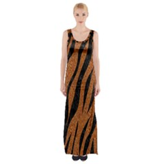 SKIN3 BLACK MARBLE & RUSTED METAL Maxi Thigh Split Dress