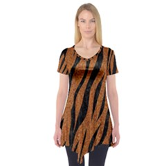 SKIN3 BLACK MARBLE & RUSTED METAL Short Sleeve Tunic