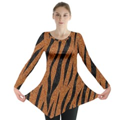 SKIN3 BLACK MARBLE & RUSTED METAL Long Sleeve Tunic