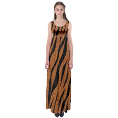 SKIN3 BLACK MARBLE & RUSTED METAL Empire Waist Maxi Dress
